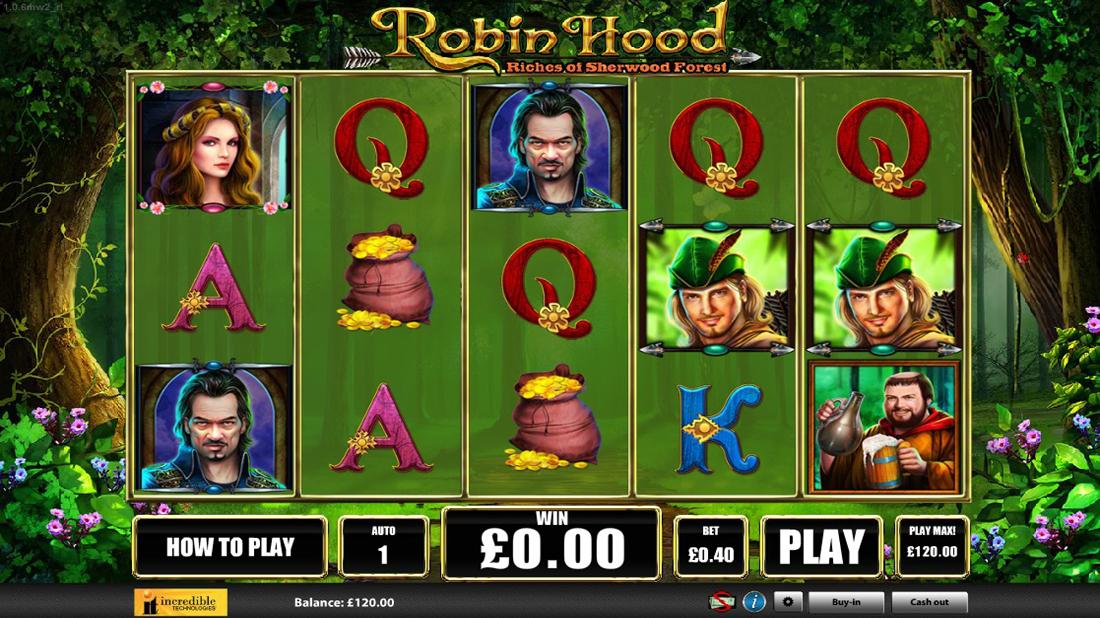 Slot machine da bar gratis robin hood