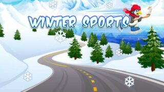 winter sports slot logo